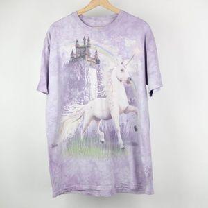 The Mountain Mens Unisex T-Shirt Unicorn Castle
